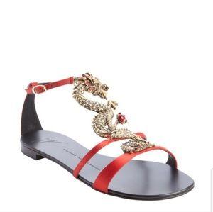 Giuseppe red dragon sandals